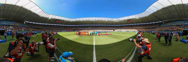 Teamaufstellung vor dem 16. Spiel des 2014 FIFA World Cup Brazil zwischen Niederlanden und Mexico in Castelao am 29. Juni 2014 in Fortaleza, Brasilien.  (Robert Cianflone/360/Getty Images)